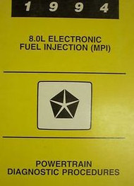 1994 Dodge Ram Truck V-10 V10 POWERTRAIN DIAGNOSTIC Service Shop Repair Manual