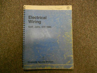 1985 VW Golf GTI Jetta Electrical Wiring Service Shop Manual FACTORY BOOK 91