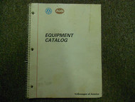 1989 VOLKSWAGEN AUDI Equipment Catalog Service Manual FACTORY OEM BOOK 89