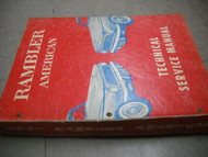 1961 AMC Rambler American Service Shop Repair Manual FACTORY OEM 61 HUGE