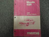 1986 Mazda 626 Electrical Wiring Diagram Service Repair Shop Manual Factory x
