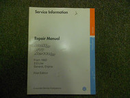 1993 1996 VW GOLF GTI JETTA 2.0L General Engine First Edition Service Manual OEM
