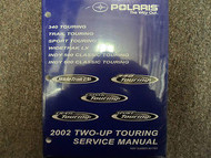 2002 Polaris Two Up Touring Indy Sport Trail Service Repair Shop Manual NEW OEM