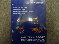 2002 Polaris Trail Sport INDY Pro Deluxe Edge Service Repair Shop Manual OEM 02