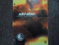 2003 Ski Doo Technical Update Book Service Repair Shop Manual Factory OEM Book x