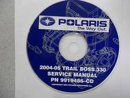 2004 2005 POLARIS TRAIL BOSS 330 Service Repair Shop Manual CD FACTORY 04 05 x