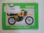 1980 Kawasaki KM100 Minicycle Owner's Manual KAWASAKI KM100 80 USED OEM