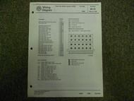1990 VW Corrado Anti Lock Brake System ABS Wiring Diagram Service Manual OEM 90