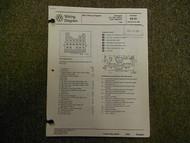 1989 VW Vanagon 450 Watt Radiator Stereo Seats Wiring Diagram Service Manual OEM