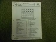 1989 VW Jetta Diesel Turbo Digifant AC Wiring Diagram Service Manual OEM BOOK 89