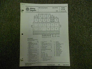 1987 VW JETTA CIS E Main Wiring Diagram Service Repair Shop Manual INCOMPLETE 87