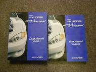 1997 HYUNDAI TIBURON Service Repair Shop Manual SET FACTORY OEM VOLUME 1 & 2 x