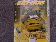 2000 Ski Doo Grand Touring 600 Parts Accessories Catalog Manual Factory OEM Book