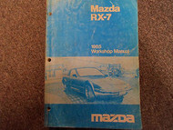 1985 Mazda RX-7 RX 7 Service Repair Shop Manual FACTORY OEM BOOK RARE 85 x