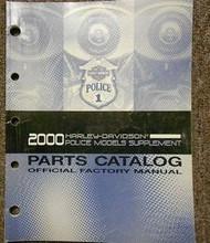 2000 Harley Davidson Police Models Supplement Parts Catalog Manual FACTORY OEM X