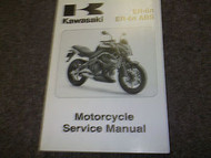 2009 Kawasaki ER-6n ER 6n ABS MOTORCYCLE Service Repair Shop Manual FACTORY OEM
