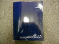 2010 11 Acura ZDX Body Audio Restraints Service Repair Shop Manual VOLUME 2 OEM