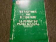 1984 Arctic Cat Panther El Tigre 6K Illustrated Service Parts Catalog Manual x