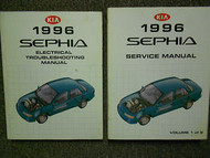 1996 Kia Sephia Service Repair Shop Manual Set Factory Books OEM 96 X