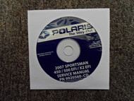 2007 POLARIS Sportman 450 500 X2 EFI Service Repair Shop Manual CD FACTORY OEM X