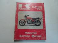 1981 1983 Kawasaki KZ1100 Shaft Motorcycle Service Manual WORN FADED COVER OEM x