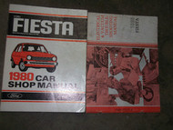 1980 Ford Fiesta Car Service Shop Repair Manual SET FACTORY OEM BOOKS