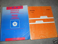 1993 JEEP GRAND CHEROKEE Service Shop Repair Manual Set W RECALLS MANUAL OEM 93