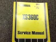 1976 1977 1978 YAMAHA XS360C XS 360 C Shop Service Repair Manual FACTORY OEM