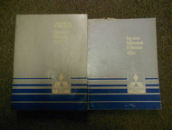 1985 MITSUBISHI Truck Service Repair Shop Manual FACTORY OEM BOOK 85 DEAL SET 2V