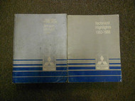 1986 MITSUBISHI Truck Service Repair Shop Manual 2 VOL SET FACTORY OEM BOOK 86
