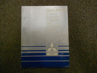 1987 MITSUBISHI Galant 4 Speed Automatic Transaxle Test Procedure Service Manual