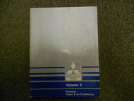 1987 MITSUBISHI Van Wagon Service Shop Manual FACTORY OEM VOL 2 ELECTRICAL DEAL