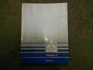 1988 MITSUBISHI Galant Service Repair Shop Manual Volume 2 Electrical FACTORY 88