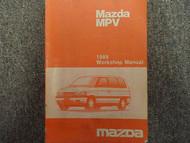 1989 Mazda MPV VAN Service Repair Shop Manual FACTORY OEM BOOK Smaller Edition