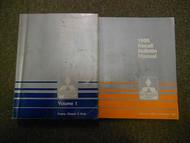 1990 MITSUBISHI Truck Service Repair Shop Manual 2 Volume SET WATER DAMAGED