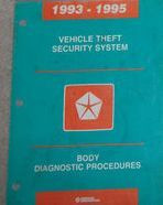 1993 1994 1995 JEEP WRANGLER CHEROKEE Theft Security System DIAG Body Manual