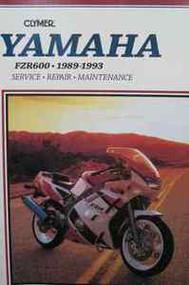 1989 1990 1991 1992 1993 Clymer Yamaha FZR600 FZR 600 Service Repair Manual X