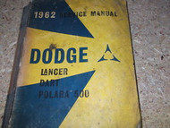 1962 Dodge Lancer Dart Polara 500 Service Shop Manual x