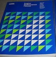 1981 CHRYSLER MIRADA Service Shop Repair Manual ENGINE PERFORMANCE DEALERSHIP