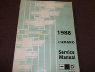 1988 CHEVY CHEVROLET CAMARO Service Shop Repair Manual FACTORY 88 BRAND NEW X