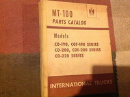 International TRUCKS IHC MT100 MT 100 MOTOR TRUCK Parts Catalog Manual OEM