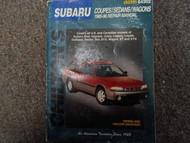 1985-1996 Chilton Subaru XT SVX Outback Legacy Justy Service Repair Manual x
