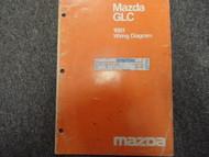 1981 Mazda GLC Electrical Wiring Diagrams Service Manual FACTORY OEM BOOK 81