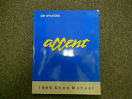 1999 HYUNDAI ACCENT Service Repair Shop V2 Engine Body Electrical Heating Manual