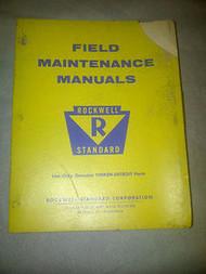 1968 1969 1964 ROCKWELL STANDARD FIELD MAINTENANCE Service Shop Manual OEM