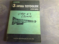 1968 1969 3 SPEED TOYO GLIDE TOYOGLIDE Service Shop Repair Manual OEM 65 RARE