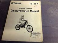 1985 84 86 YAMAHA YZ125N YZ 125 N Owner Service Shop Repair Manual LIT 116260478