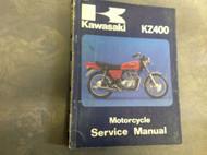 1979 1980 1981 1982 KAWASAKI KZ400 KZ 400 Service Repair Shop Manual OEM FACTORY