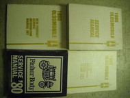 1980 Oldsmobile OLDS ALL MODELS Service Shop Repair Manual SET W BODY + LOTS OEM
