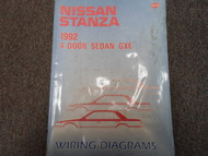 1992 Nissan Stanza 4 Door Sedan GXE Service Repair Shop Manual Factory Book OEM